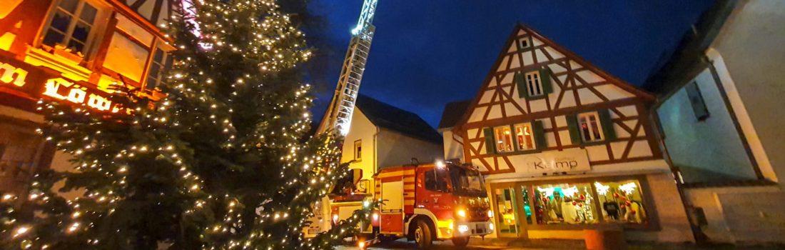 Vorweihnachtlicher musikalischer Gruß der Feuerwehr Seeheim